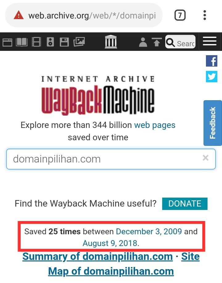 Cara Mengetahui Domain Expired Melalui Web Archive