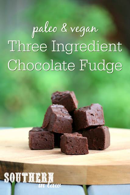 Three Ingredient Healthy Chocolate Fudge Recipe – paleo, vegan, sugar free, clean eating recipe, dairy free, egg free, nut free, healthy, raw, healthy valentines day recipe