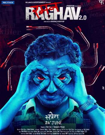 Poster Of Raman Raghav 2.0 2016 Hindi 450MB DVDRip 720p ESubs HEVC Watch Online Free Download Worldfree4u