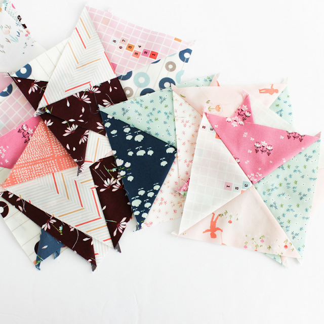 Playtime Quilt | Shannon Fraser Designs | Playground Showcase | Playground Fabric | Hourglass Quilt Block