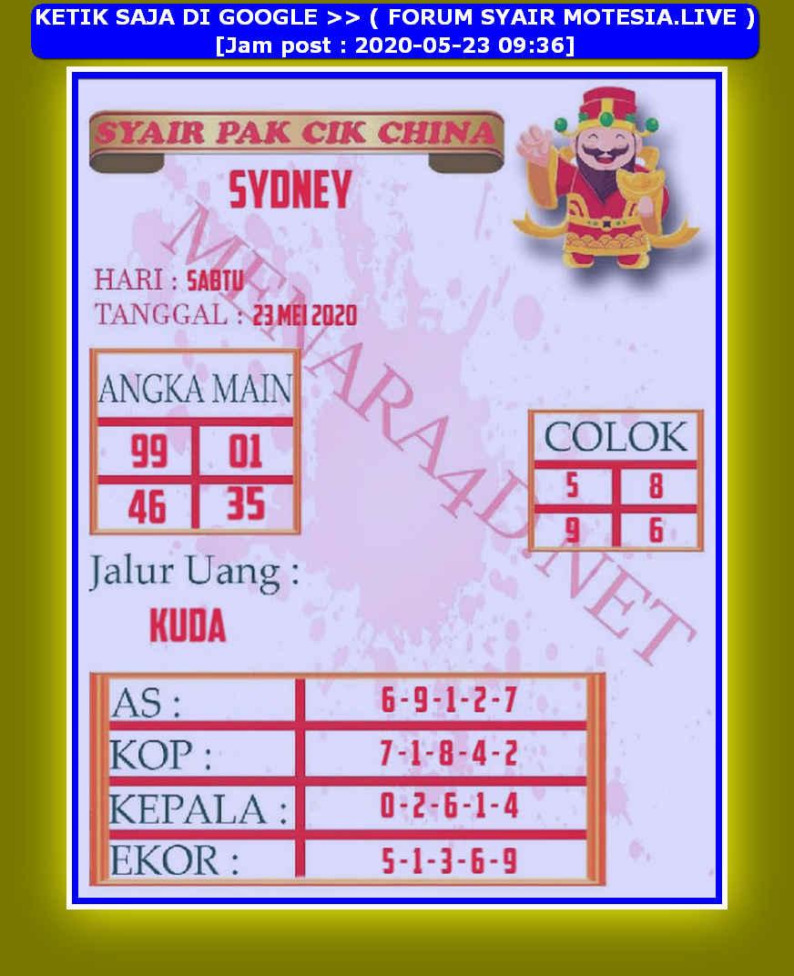 Kode syair Sydney Sabtu 23 Mei 2020 214