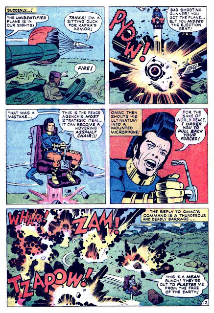 Omac v1 #3 dc bronze age comic book page art by Jack Kirby