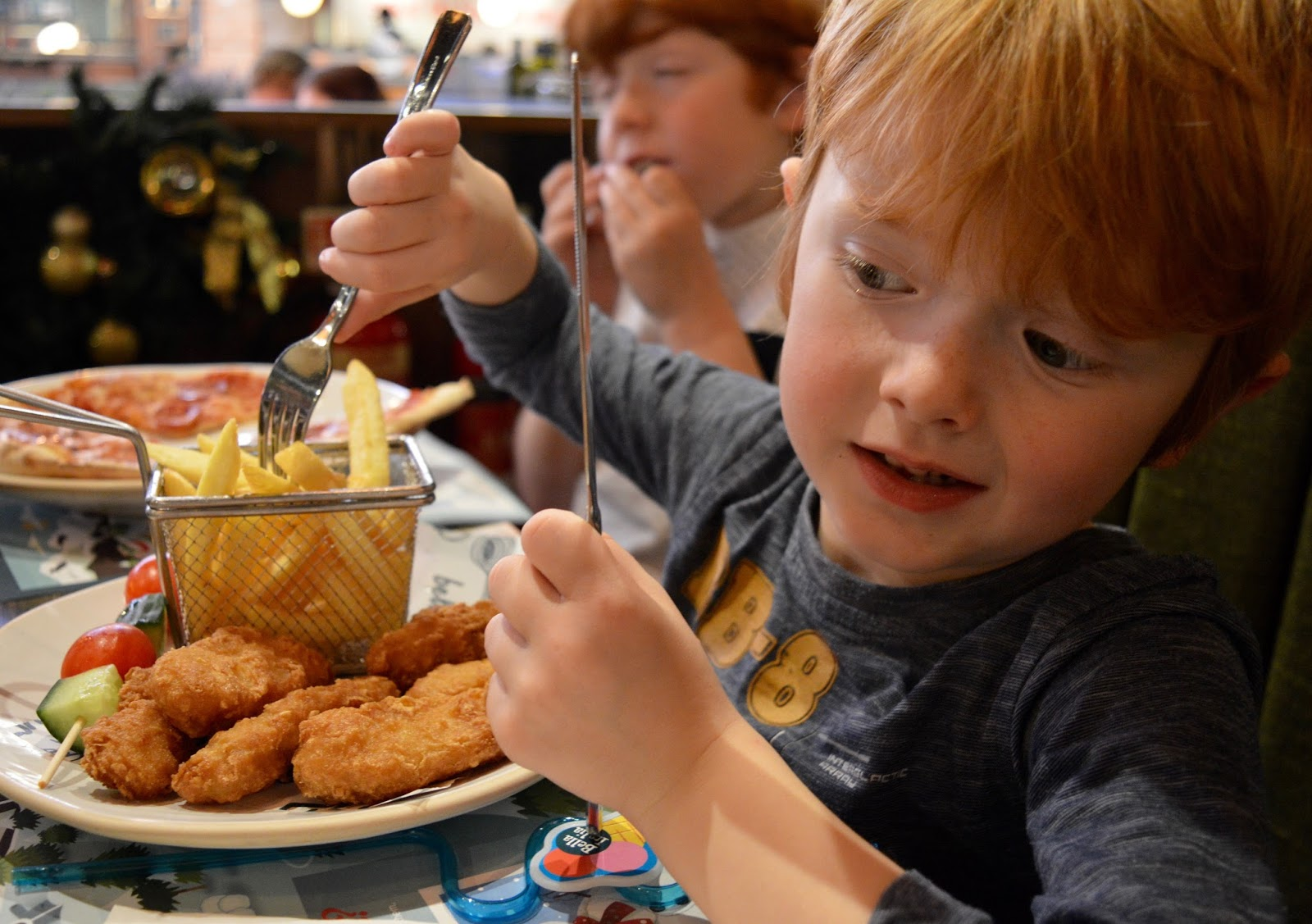 Bella Italia at intu Eldon Square Newcastle | Children's Menu Review - kids fish and chips