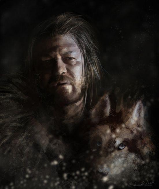 Ania Mitura DalisaAnja deviantart ilustrações fantasia sombria Game of Thrones - Eddard Stark