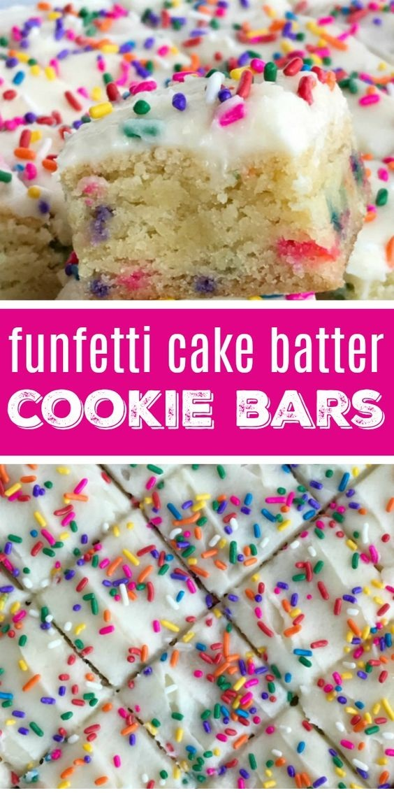 Funfetti Cake Batter Cookie Bars