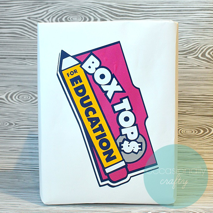 Turn a cereal box into a Box Top Classroom Collection Box with this Vinyl Box Top Logo!