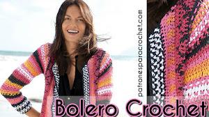 Patrones de Bolero Crochet 🌻 con Técnica Jackard
