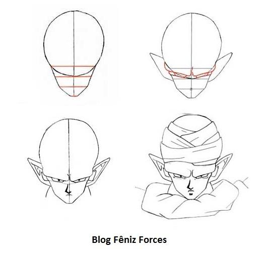 Aprenda Desenhar Dragon Ball Z Moldes Mangá Anime Passo A