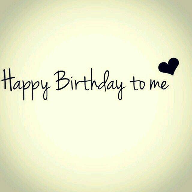 happy bday to me