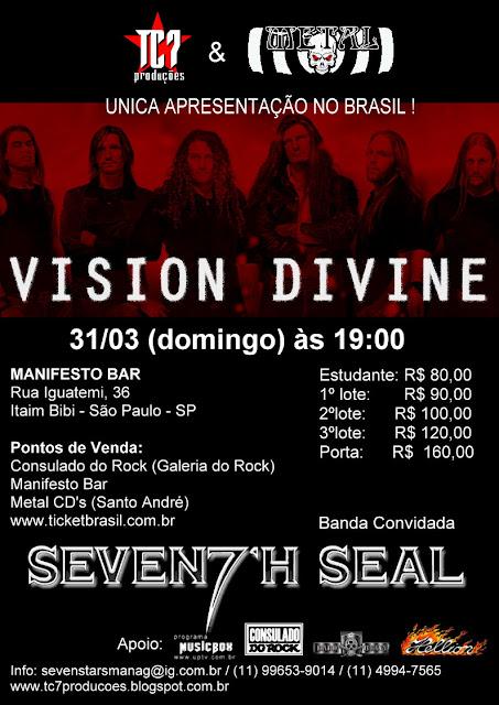 Show do Vision Divine em São Paulo, Brasil