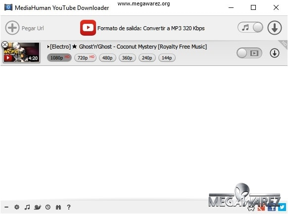 MediaHuman YouTube Downloader imagenes