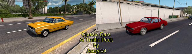 ats classic cars ai traffic pack v2.9 screenshots 1, Chevrolet Monte Carlo '86, Dodge Coronet '67
