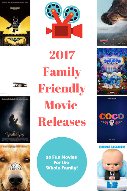 Full list of family-friendly movies being released in theaters in 2017!!