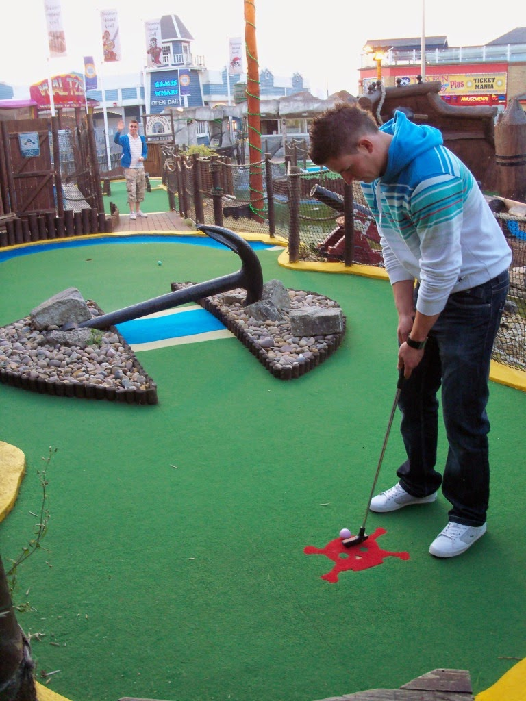 Treasure Island Adventure Golf course on the seafront in Southsea, Hampshire