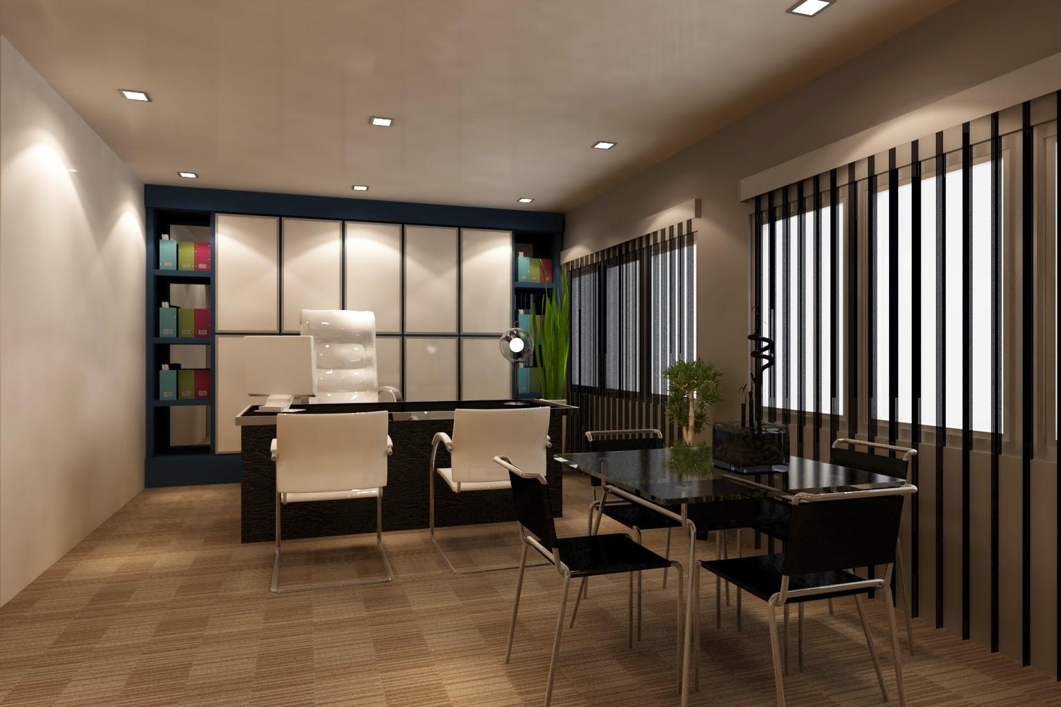 3d Home Decor Idea S: Foundation Dezin & Decor...: Office Space In 3D Model