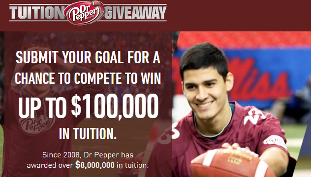 Dr pepper tuition giveaway winning videos