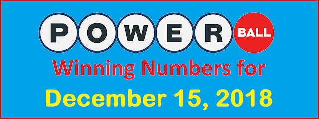 PowerBall Winning Numbers for Saturday, 15 December 2018