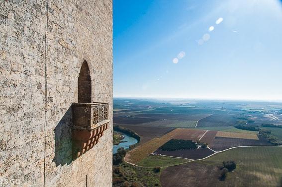 Balcon del castillo de Almodovar. Visita Cordoba