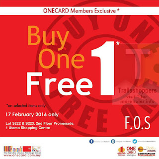 fos buy 1 free 1 sale
