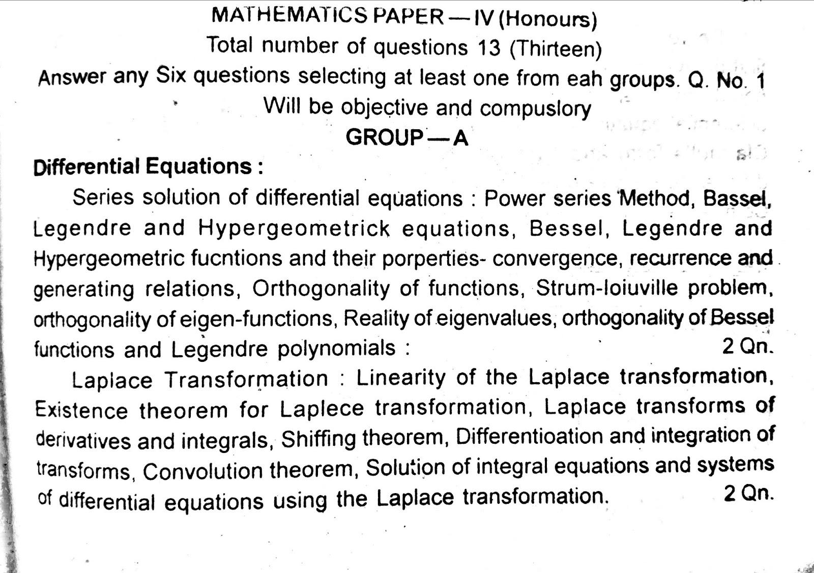 B A  and B Sc  1,2, and 3 year syllabus for TMBU: Mathematics