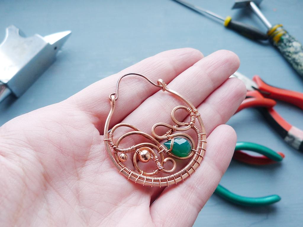 Metal Polishing Near Me >> Ursula Jewelry : Free tutorial - Large copper earrings ...