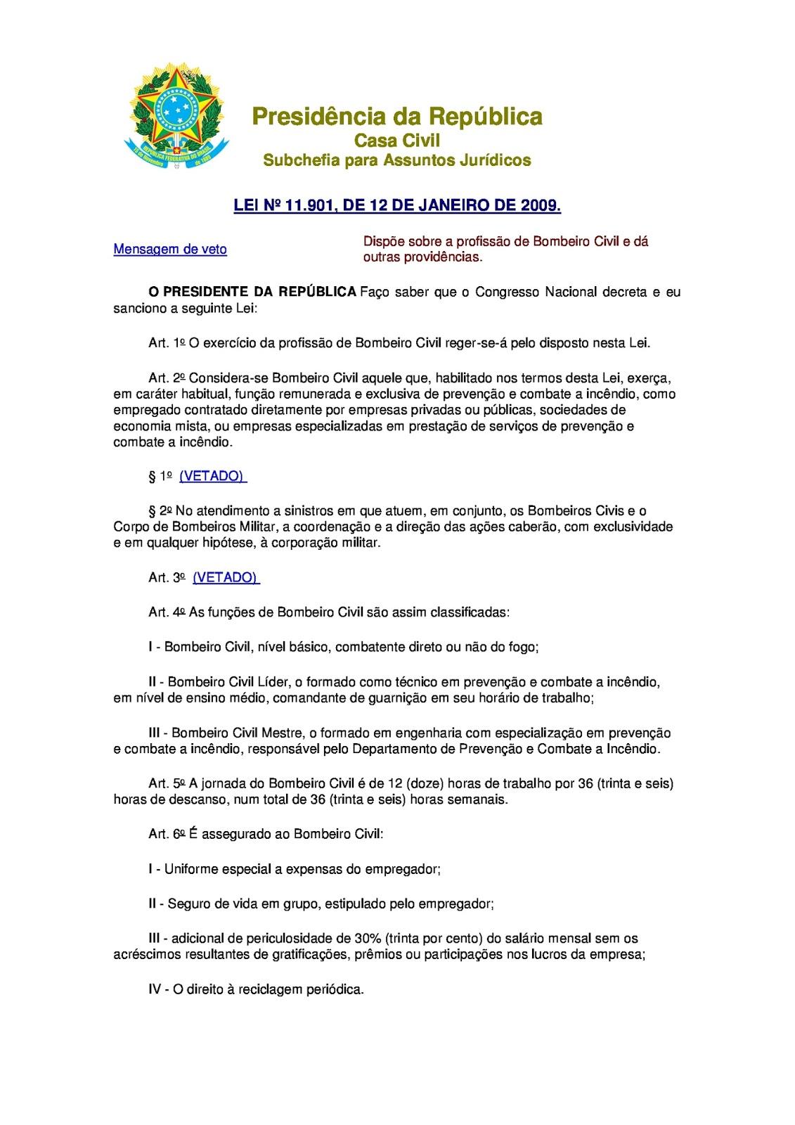 002ac3c9d4604 FEBRABOM RIO GRANDE DO SUL  Normas que Regem a Profissão Bombeiro Civil.