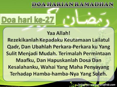 DOA HARIAN RAMADAN HARI KE 27