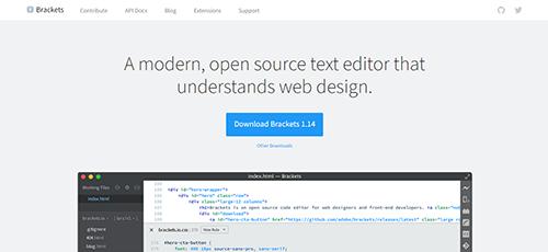 text editor brackets