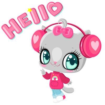 Kitty says hello