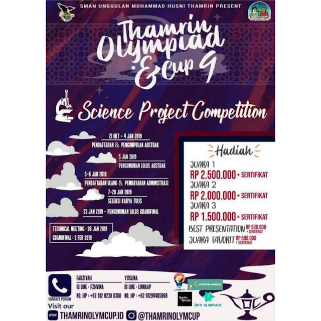 Lomba Thamrin Olympiad And Cup 9 2019 SMP-SMA Sederajat
