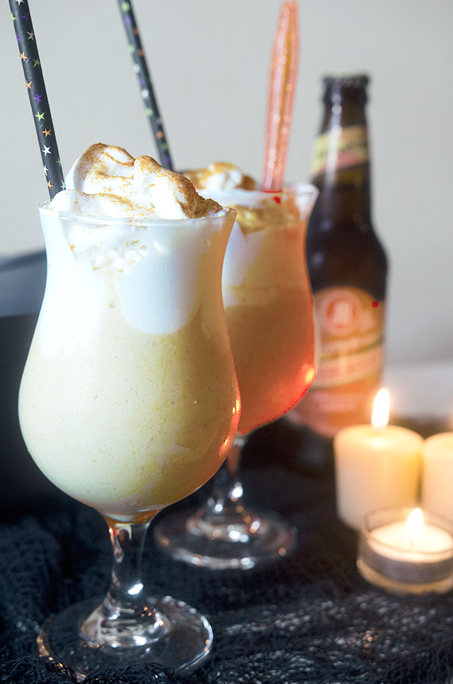 harry potter recipes, vegan harry potter recipes, best butterbeer milkshakes, beer milkshake, fall beer milkshake, vegan beer milkshake, dairy free beer milkshake, vegan oktoberfest beer, dairy-free beer milkshake, vegan beer milkshake recipe, fall milkshake recipes, vegan butterscotch milkshake recipe