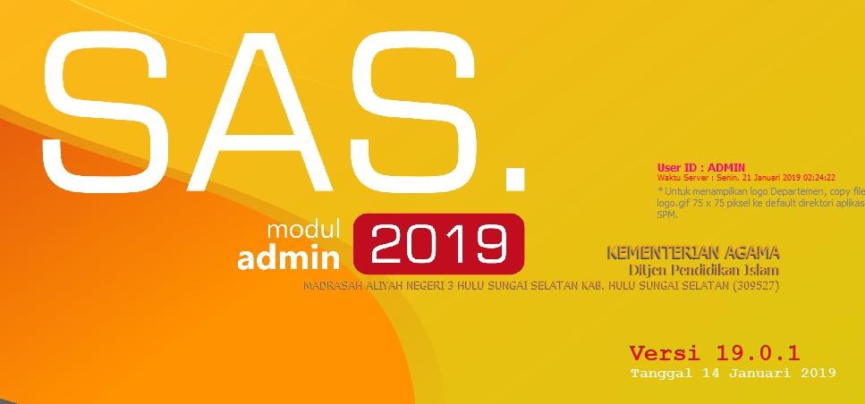 Gak 1902 Update: Update Aplikasi SAS 19.0.1 (14 Januari 2019)