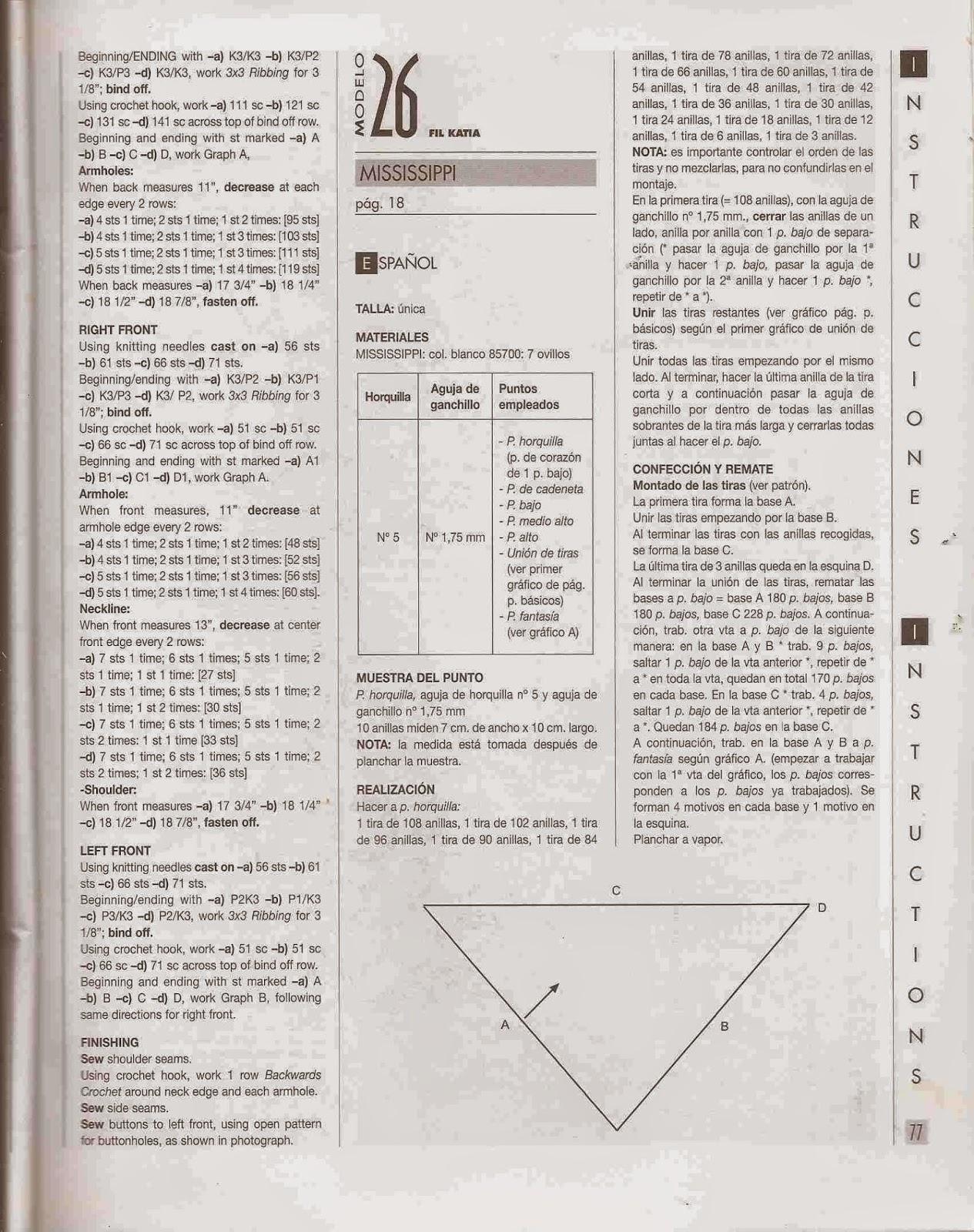 Instrucciones de chal