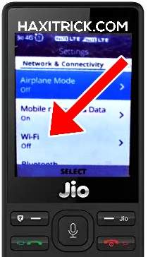 Jio Phone Wifi Setting Turn On WiFi Connect Screenshot