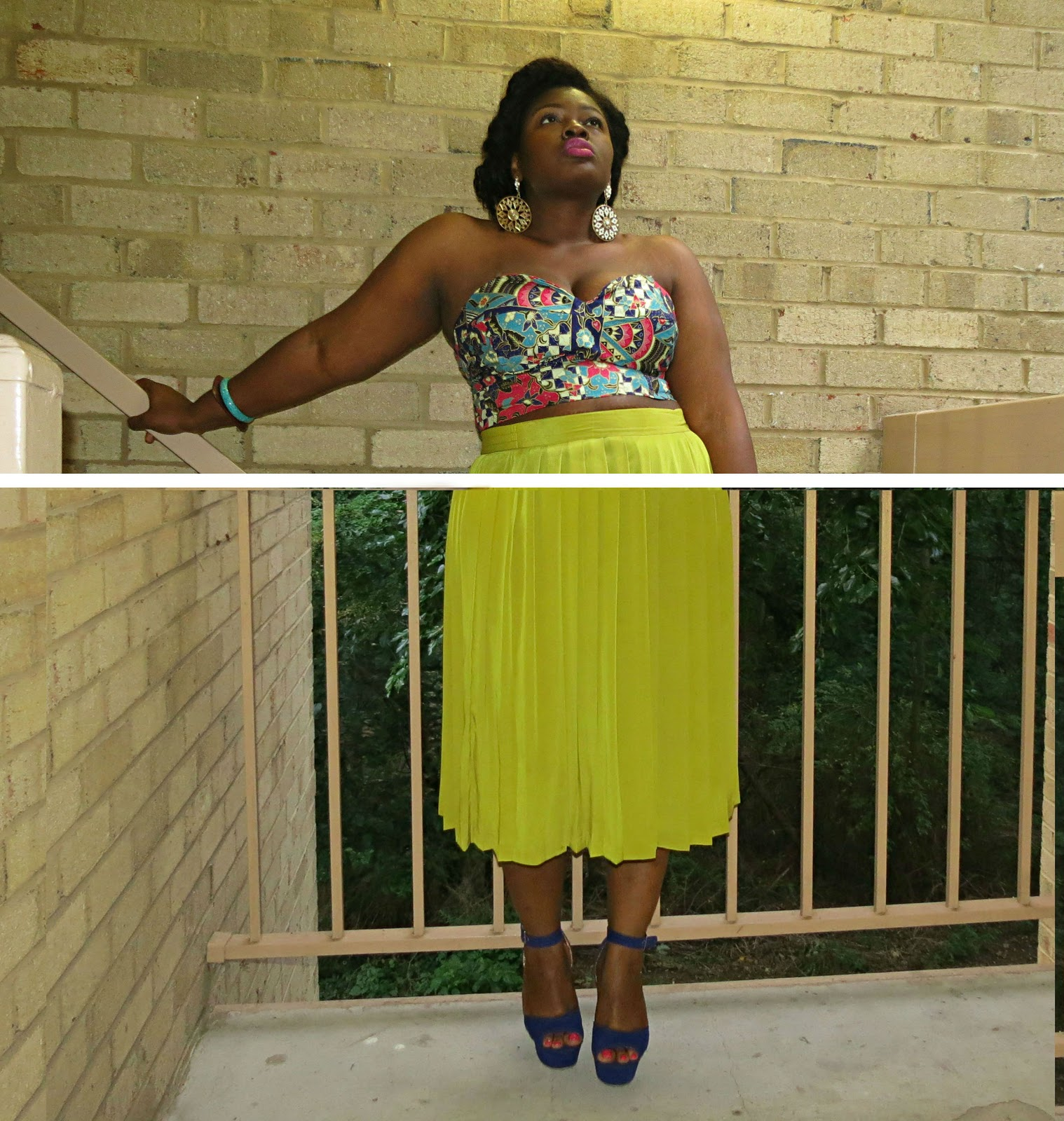 how to wear a cropped bustier plus size
