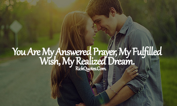 Love Quotes | My fulfilled Wish My Dream Couple Love hug Romantic