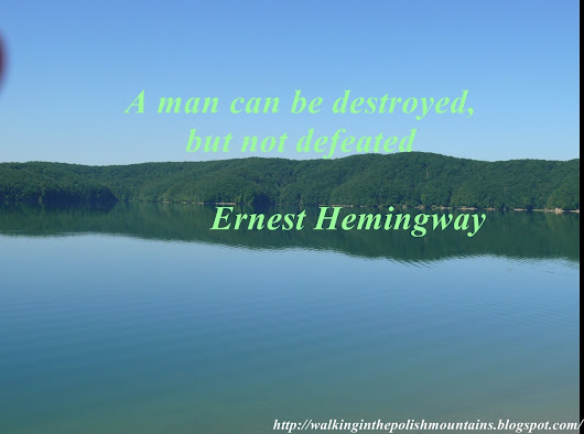 A man can be des­troyed, but ...