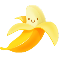 banana fruit cartoon icons 2