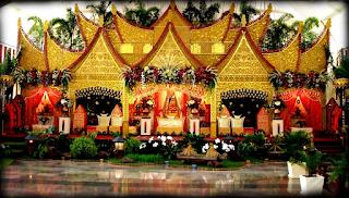 Sewa Dekorasi Pelaminan Minang di Padang