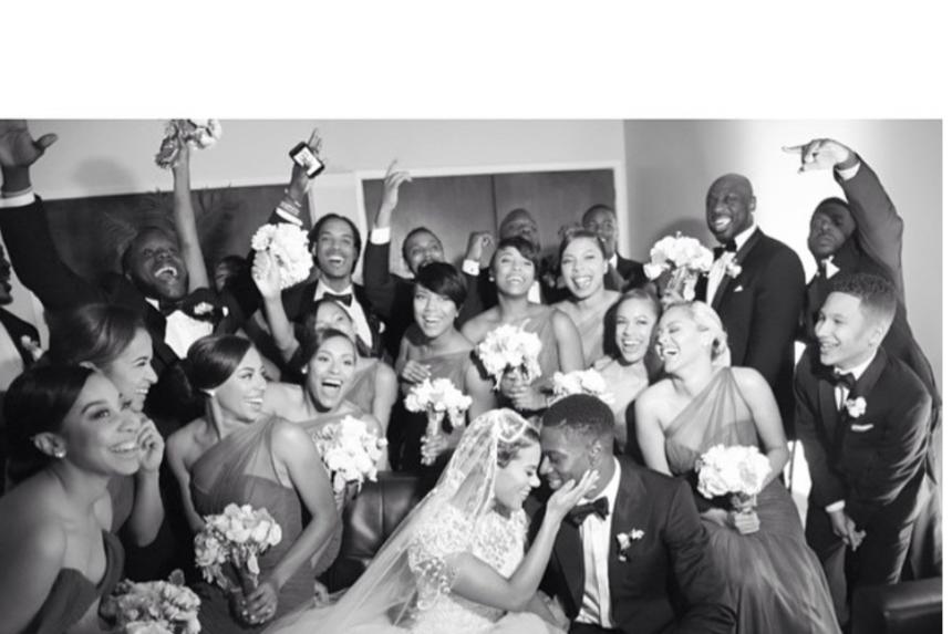 A. J. Green and Miranda Brooke wedding