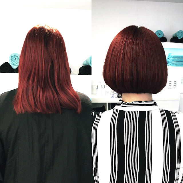 Red Hair, hair ideas, before and after, short bob style