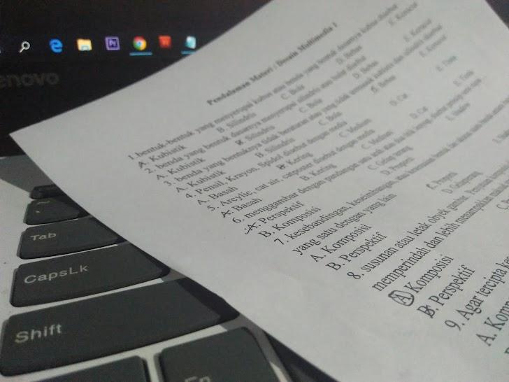 √ Contoh Soal dan Jawaban UAS Pilihan Ganda Desain Multimedia Kelas XI