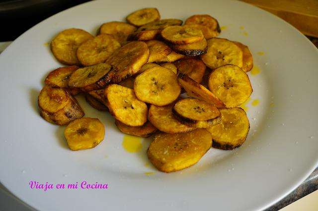 Plátano frito en aceite de Palma