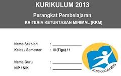 KKM Kelas 3 SD/MI Kurikulum 2013 Semester 1 Edisi Terbaru