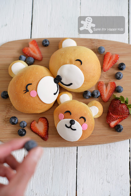cute bear bread buns