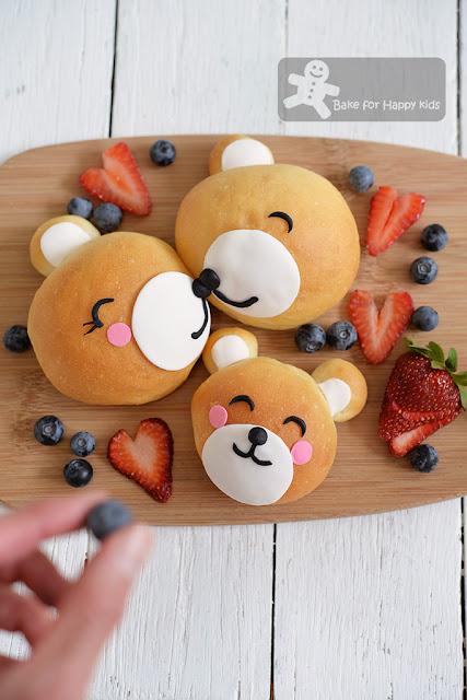 cute bear bread buns