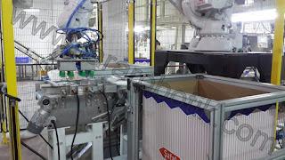 Toz Kristal Şeker Torba Poşet Paletleme Robotu Tara Robotik