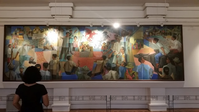 Painting by Vicente Manansala at the National Museum from Hey, Haeja