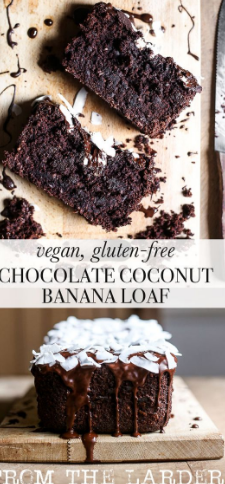 Vegan Chocolate Coconut Banana Loaf