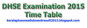 DHSE Examination 2015